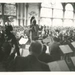 orchestr na kolonádě v 60. letech 20. stol.