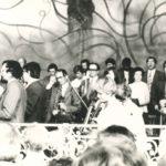orchestr na kolonádě v 80. letech 20. stol.